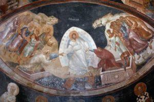Anàstasis, affresco, primi decenni del XIV sec., Costantinopoli, Paracclésion della chiesa di San Salvatore in Chora