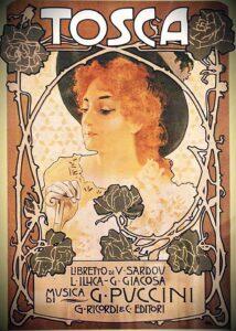 Tosca lettura parrocchie casalmaggiore locandina liberty