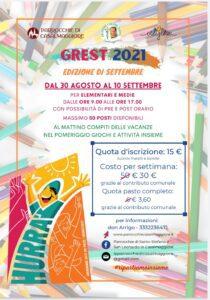 Grest 2021 edizione Settembre-parrocchie Casalmaggiore